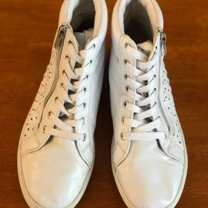 American Heritage White High Top Shoes